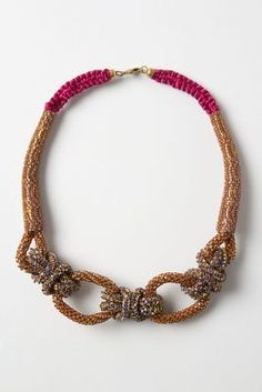 I'm a really big fan of these statement pieces, and this looks like thick cord. Anthropologie Shimmering Sailor Knot Necklace