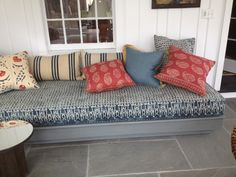 Large bench with French style mattress