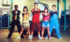 The original five Power Rangers.