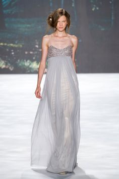 It would be refreshing to see an empire waist on the red carpet!  Badgley Mischka Spring 2013