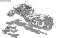 ArtStation - orbit hover cycle, bryant Koshu