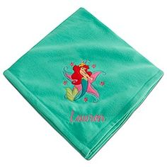 Personalizable Ariel Fleece Blanket....Im going to have to get this for my little girl - just thought it was  really cool b/c it has my name - Lauren on it!!! But i already have two...lol
