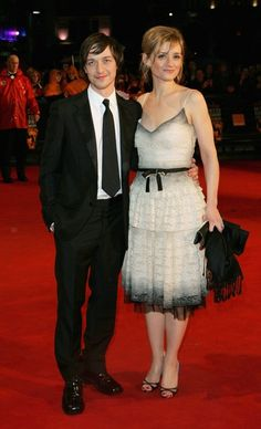 James McAvoy and Anne-Marie Duff arrive at The Orange British Academy Film Awards (BAFTAs) at the Odeon Leicester Square on February 19, 2006 in London, England.