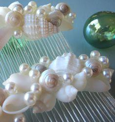 Beach Wedding Seashell Hair Combs  Shell Hair by beachgrasscottage, $30.00