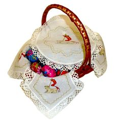 Easter Basket Liner with Paschal Lamb Cover--Polish