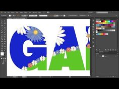 How to Draw Inside an Object/Text in Adobe Illustrator - YouTube