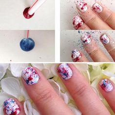 Diseños para uñas paso a paso con esmalte, diseño para uñas niñas facil…