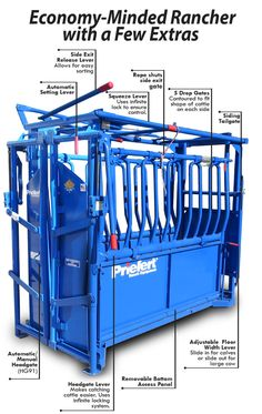 """The S0191 is """"The Rancher"""" chute with the Model 91 headgate, which operates in manual or automatic mode. This upgrade makes the S0191 a popular choice for ranchers."""