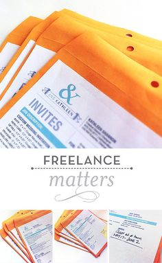 Freelance Matters | Project Management | for every project an envelope http://www.tykans.com