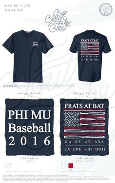 Phi Mu | Baseball | Frats at Bat | Patriotic T-Shirt Design | South by Sea | Greek Tee Shirts | Greek Tank Tops | Custom Apparel Design | Custom Greek Apparel | Sorority Tee Shirts | Sorority Tanks | Sorority Shirt Designs