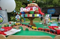 train birthday party on a budget