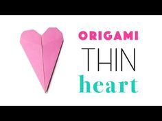 Learn how to fold an easy thin origami heart, this heart could also be used as a card or bookmark as it opens at the bottom.