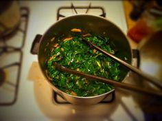 I made collards for the first time for Thanksgiving and this recipe turned out deliciously. I substituted apple pear cider for vegetable broth. Veggie Recipes, Healthy Recipes, Pear Cider, Apple Pear, Collard Greens, Healthy Fruits, Palak Paneer, Grain Free, Food Inspiration