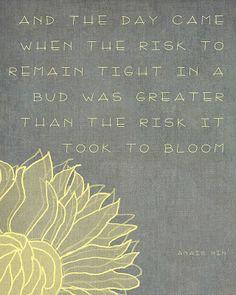 flower quote - Anais Nin