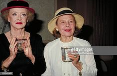 Actresses Bette Davis and Ruth Gordon receive a Crystal Award on June 1983 in Beverly Hills, California. Get premium, high resolution news photos at Getty Images Hollywood Glamour, Classic Hollywood, Old Hollywood, Ruth Gordon, Best Actress Oscar, Crystal Awards, Mary Pickford, Blondie Debbie Harry, Oscar Winners