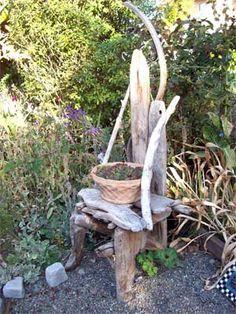 Driftwood Chair Sculpture....great garden art....