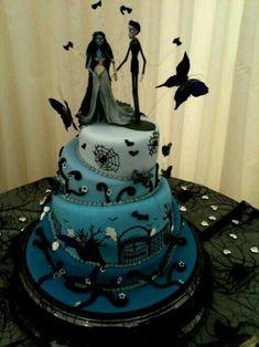 Tim Burton Wedding Cake Ideas Nightmare Before Christmas Gothic Corpse Bride