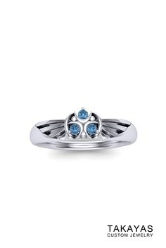 Zora Sapphire Zelda Inspired Ring by Takayas Custom Jewelry