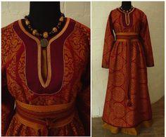Lovely red Viking. Nice Inkle woven belt example too.