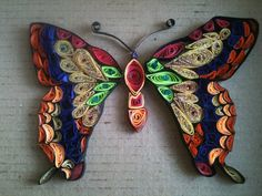 Quilled Butterfly Custom Handmade to Order by ChineseAcademy, $20.00