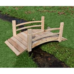Graceful and classic in design, this Shine Company Inc. Cedar Garden Bridge helps you add visual interest to your outdoor space. It is made of top-quality...