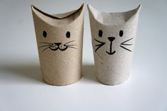 bunny from toilet paper rolls Ideas from the forest:
