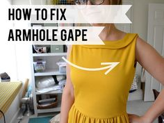 How to fix armhole gape in Knits (without adding a dart) by Miss Make