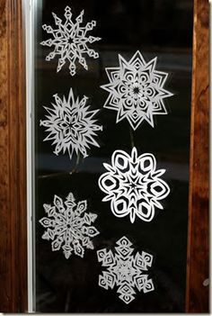 One day last week when I should have been doing something a little more constructive I sat down and cut paper snowflakes. I don't remem...