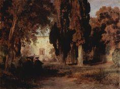 Le Prince Lointain: Oswald  Achenbach (1827-1905), Klostergarten.