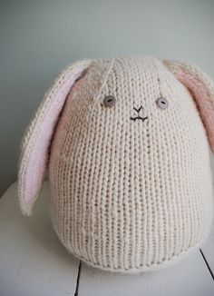 Whits Knits: Big Cuddly Bunny - The Purl Bee - Knitting Crochet Sewing Embroidery Crafts Patterns and Ideas!