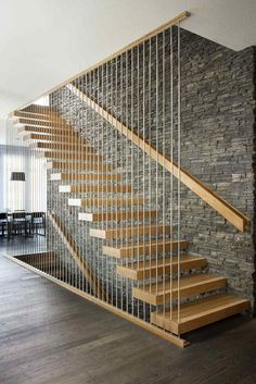 Modern Staircase Design Ideas - Search images of modern stairs as well as find design as well as format ideas to influence your own modern staircase remodel, including unique railings and also storage space . Modern Stair Railing, Stair Railing Design, Home Stairs Design, Interior Stairs, Modern House Design, Modern Stairs Design, House Staircase, Staircase Remodel, Staircase Railings