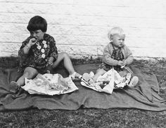 #pinmylove Me and my sister when we were little *sigh* fish-n-chips - how ironic is that xo