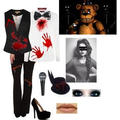 Outfit 55: Freddy Fazbear from Five Nights At Freddy's by mandi-hatter on Polyvore featuring moda, Barbour, Ted Baker, Calvin Klein, Qupid, Freddy, fivenightsatfreddy, fnaf and freddyfazbear