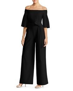 0a8fda8351ba Ralph Lauren - Off-the-Shoulder Wide-Leg Jumpsuit Jumpsuits For Women