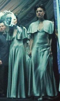 Výsledek obrázku pro silver dress harry potter wedding fleur bill