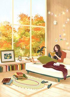 Cartoon Girl Images, Cartoon Art Styles, Dibujos Cute, Cute Illustration, Cartoon Wallpaper, Anime Art Girl, Aesthetic Art, Cute Drawings, Cute Wallpapers