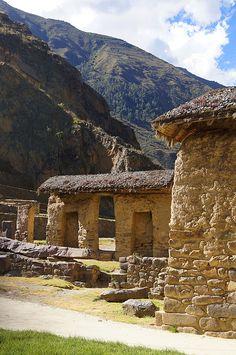 Inca ruins of Ollantaytambo, Peru
