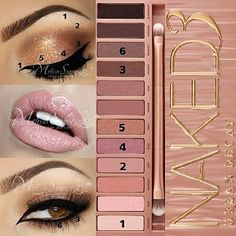 Eye Tutorial Number Two with Naked 3 Palette  Here is an eye tutorial for a golden copper neutral look with the Naked 3 Palette by Urban Decay