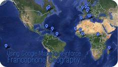 Using Google Maps and Flickr to Reinforce Francophone Geography #education