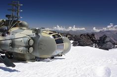 A Russian helicopter Mi-8 has fallen and now lying on the height of 4800m and nobody can evacuate it …