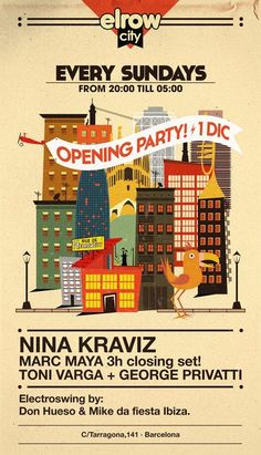 El Row City Opening feat. Nina Kraviz | Barcelona | Spain | https://beatguide.me/barcelona/event/ker-club-el-row-city-opening-party-20131201