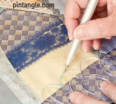 marking seam Sharon B's CQ Stencils  You have to buy the stencils.  BUT she has pages of how to use them.  Almost like having the stencils at  home