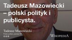 """Tadeusz Mazowiecki"" på @Wikipedia:"