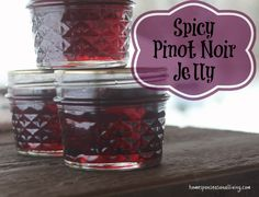What& a girl supposed to do with not very good wine? Make jelly, of course, spicy pinot noir jelly. Jelly Recipes, Alcohol Recipes, Jam Recipes, Canning Recipes, Pinot Noir, Wine Jelly, Jam And Jelly, Homemade Jelly, Homemade Gifts