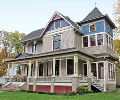 See how this couple brought back the period details and added some fresh flourishes, including new stained-glass windows and a stately turret to revive this once dilapidated 1874 Queen Anne. | thisoldhouse.com