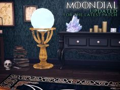 The Path Of Nevermore: Moondial lamp • Sims 4 Downloads