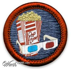 First Movie Merit Badge Cute Patches, Pin And Patches, Iron On Patches, Jacket Patches, Felt Material, Morale Patch, Merit Badge, Pink Plastic, Fabric Patch