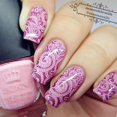 [Visit to Buy] 1 Bottle 6ml Pink Born Pretty Stamp Stamping Nail Polish Nail Art Varnish Nail Plate Printing Polish #16 #Advertisement