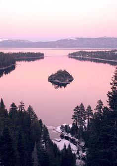 looks like Emerald Island/Lake Tahoe...not sure...