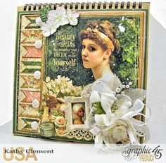 Decide to be Yourself Easel Album, Portrait of a Lady, by Kathy Clement, Product by Graphic 45 Photo 1